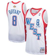 official photos 9d976 778b7 Kobe Bryant Western Conference Mitchell   Ness 2004 All-Star Hardwood  Classics Authentic Jersey – White