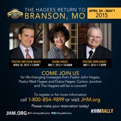 The Hagees Return to Branson! #JHMRALLY