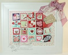 www.PattyStamps.com - Valentine framed holiday sampler with Stampin' Up! products