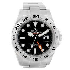 225076069a0c 16287 Rolex Explorer II Black Dial Automatic Steel Mens Watch 216570  SwissWatchExpo Rolex Gmt