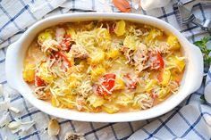 Hähnchengeschnetzeltes im Auflauf mit Tomaten, Kartoffeln und Schmand ist einfach immer eine gute Idee und super schnell zuzubereiten...