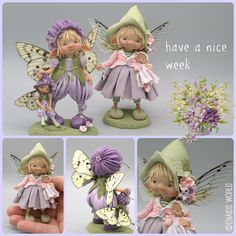 Cute Polymer Clay, Polymer Clay Dolls, Clay Fairies, Flower Fairies, How To Make Clay, Baby Fairy, Clay Baby, Dragons, Clay Figures
