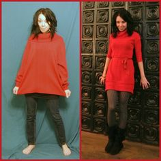 Picmonkey collage sewing fashion, baggy sweaters и thrift store outfits. Baggy Sweaters, Old Sweater, Fashion Tips For Women, Diy Fashion, Fashion Outfits, Diy Clothing, Sewing Clothes, Refashioning Clothes, Upcycling Clothing
