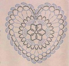 Crochet heart doily diagram charts 43 Ideas for 2019 Crochet Blanket Border, Crochet Shrug Pattern, Crochet Motifs, Crochet Doilies, Crochet Stitches, Free Pattern, Heart Diagram, Diagram Chart, Crochet Hearts