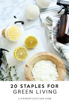 20 Green Living Staples and a reusable fill in the blank market list