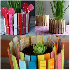 How to make a nice container with wooden pegs