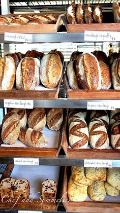 Rustic sourdough loaves at Innocent Bystander, Healesville