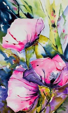 "dark-sapo-sun-yoa: "" Véronique PIASER MOYEN WATERCOLOR """