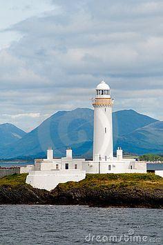 Old Scottish Lighthouse  Isle of Mull