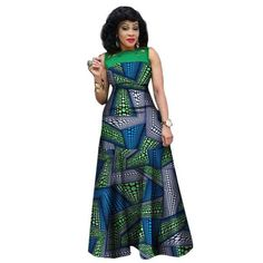 African Dresses For Women African Print Clothing Sleeveless Sexy Maxi Style at Diyanu African Print Clothing, African Shirts, African Print Fashion, Short African Dresses, Latest African Fashion Dresses, Traditional African Clothing, Traditional Outfits, Plus Size Maxi Dresses, Casual Dresses