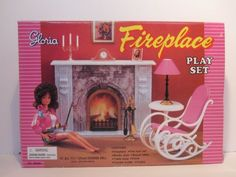 Gloria-96006-Fire-Place-Play-Set-Barbie-Fashion-Royalty-Doll-House-Furniture