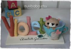 CUSTOM NAME TEACUP custom kid's decor personalized by mukibaba, $28.00