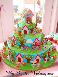 Little Pets Birthday Cake by Art Cakes, via Flickr