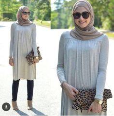 long sleeved blouse hijab look