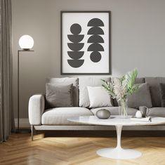 A coleção Pérola é sinônimo de design e sofisticação. Nesta sala de estar moderna e aconchegante a Luminária Pérola Coluna Avant compõe o ambiente tranzendo modernidade e um ar super acomchegante.