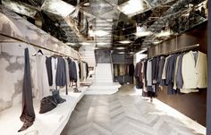 Damir Doma, Paris, by March Studio | Australian Design Review Sickest mirrored ceiling ever. Love the pale herringbone floors as well