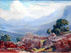 JH Pierneef - Rocky Landscape