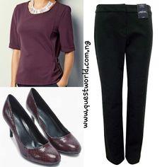 Crepe top size 10 #6000 Trousers size 10  #6500 Shoes size 6.5/40 #12000 www.questworld.com.ng  www.konga.com/QUEST-WORLD-BOUTIQUE