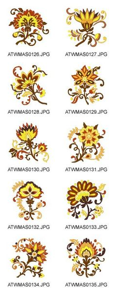 Fall-Jacobean Embroidery Designs