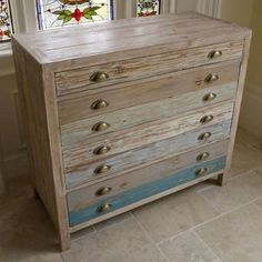 Loft style wooden chest of drawers - Beach House - Buy Now at Scoutabout Interiors