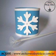 "Centro de Mesa ""Frozen"" - Atelier Wesley Felício #Artesanato #Crafts #Handmade #Festa #Infantil #Decoração #Party #Frozen #Eva"