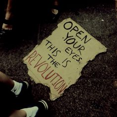 """I look down at the sign. The Revolution? """"Alarick was right. This is the Revolution. This is war. And I started it."""" I think."""