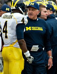 Michigan's defensive coordinator, Greg Mattison, and head coach, Brady Hoke, first coached together in their team is heading into Tuesday's Sugar Bowl against Virginia Tech. Virginia Tech, Ny Times, Michigan, Friendship, My Love, Sports, Blue, Hs Sports, Sport
