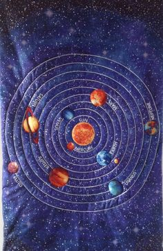 Stonehenge out of this world solar system 24 x 44 for Space fabric panel