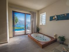 Hear the sounds of the ocean while relaxing in the indoor heated Jacuzzi!