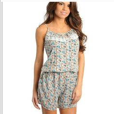 Floral romper Floral romper with lace detail 100% cotton Other