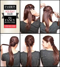 Holiday hair: 5 easy steps to creating a fancy ponytail that's party-ready | FASHION magazine