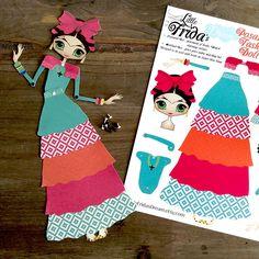 "Little Frida's Dream Articulated Paper Doll 13 1/2"" Tall (Design 1) by LittleFridasDream on Etsy https://www.etsy.com/listing/227833726/little-fridas-dream-articulated-paper"