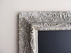 FRAMED CHALKBOARD - Silver Winter Wedding Distressed Vintage Wedding Sign