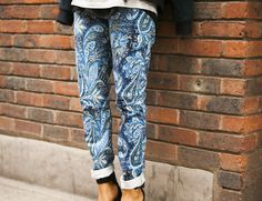 loving printed trousers at the mo...