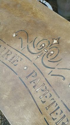 Stenciling with Annie Sloan's dark wax,  by Imperfectly Perfect xx