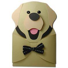 Labrador Retriever Hug Gift Card Holder SVG cut SKU designed by Jennifer Rush. Labrador Retriever, Birthday Card Template, Birthday Cards, Scrap, Dog Crafts, Puppy Party, Invitation Card Design, Valentine Box, Cat Cards