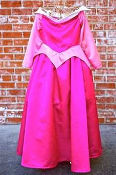 Girls Sleeping Beauty Aurora Inspired Storybook Princess Dress Up Costume Dress. $75.00, via Etsy.