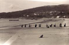 Pescando a la rapeta en la Playa de Patos