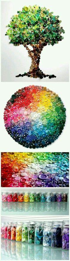 Arte com botões