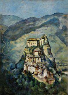 Martin Benka, Orava Castle Chaim Soutine, Illustrators, Graphic Art, Medieval, Illustration Art, Castle, Around The Worlds, Drawings, Czech Recipes