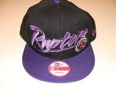 a1828d313b2af 2011 New Era Toronto Raptors NBA Basketball Snapback Cap Hat Black Purple  Custom Raptors