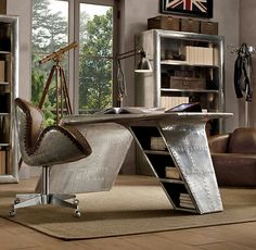 Air plane wing desk