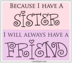 En het liefste zusje is die van mij!
