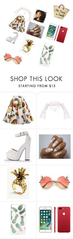 """""""day out at the beach"""" by isyss3245 ❤ liked on Polyvore featuring Ann Taylor, Sonix and Apple"""