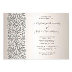 21 Best 25th Wedding Anniversary Invitations Images Anniversary