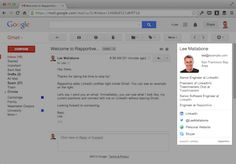 Rapportive is a free tool that you install to gmail that allows you to find anyone's email in seconds. It also gives you a quick overview of anyone who emails you. Pretty nifty.