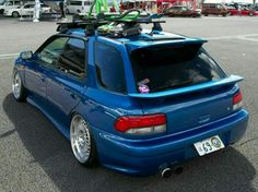 Awesome JDM 2000 Subaru Outback Sport we spotted at Slammed Society Fuji.