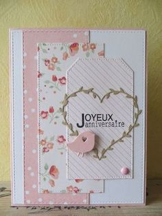 A spring tune - the Karilou scrapbook Mini Scrapbook Albums, Scrapbook Cards, Love Cards, Diy Cards, Birthday Wishes, Birthday Cards, Heart Cards, Anniversary Cards, Homemade Cards