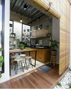 Desain Dapur Terbuka Minimalis Desain Dapur Terbuka Semi Outdoor