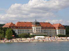 The Grand Hotel in Sopot. Poland's Baltic Sea